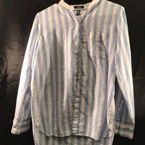 Chaps blue stripped long sleeve shirt